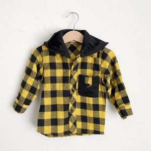 NWT Jayden Shop Boys Flannel with Hood Size Small